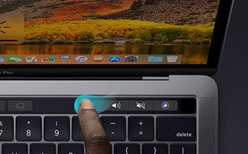 Adjust Volume Using Touch Bar - Macbook Pro