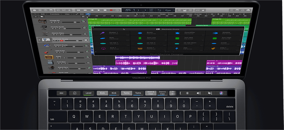 Touch bar Controls on Macbook Pro