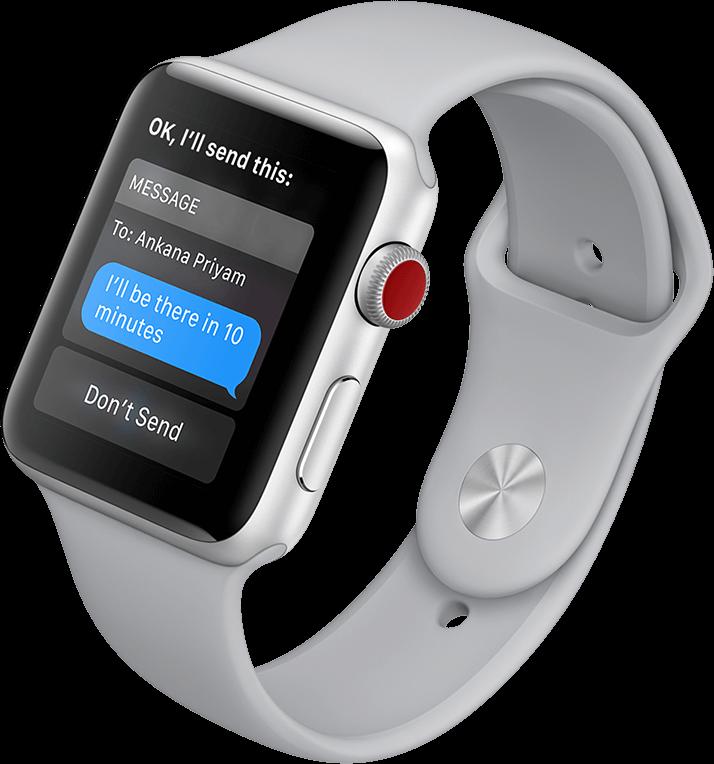 Siri on Apple Watch Series 3