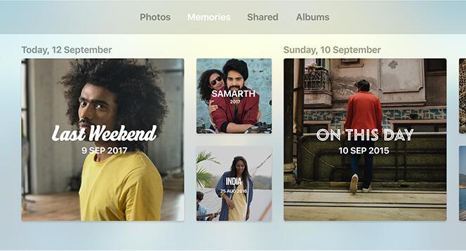 Apple TV 4K Photos and Videos Memories
