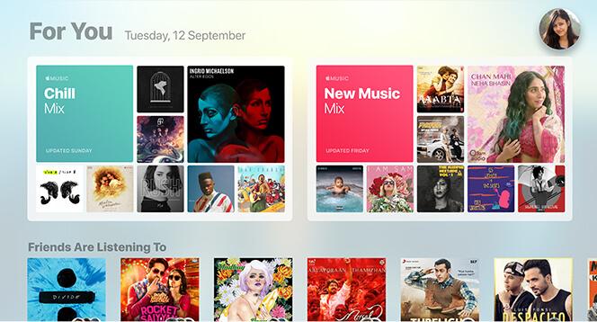 Apple Music in Apple TV 4K